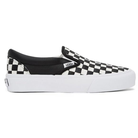 Vans Black & White OG Classic Slip-On Sneakers